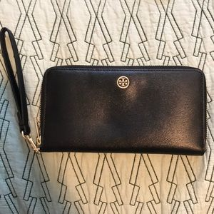 Tory Burch Leather Wallet/Wristlet